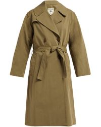 Nili Lotan Benning Double Breasted Cotton Trench Coat