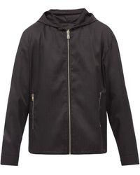 Givenchy フーデッド ジップアップジャケット - ブラック
