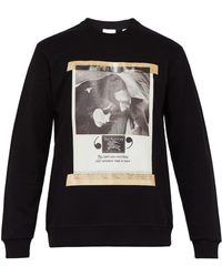 Burberry - Archive Poster Print Cotton Sweatshirt - Lyst