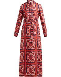 Valentino Bandana-print Silk Dress - Red
