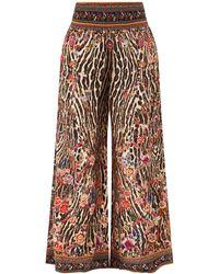 Camilla Liv A Little-print Silk-georgette Pants - Multicolor