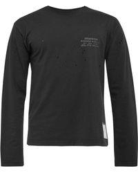 Satisfy T-shirt troué Deserter - Noir