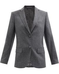 Officine Generale Charlene Single-breasted Wool-flannel Jacket - Grey