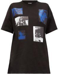 Raf Simons Blue Velvet コットンtシャツ - ブルー