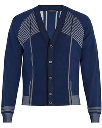 Prada - V-neck Raglan-sleeve Cardigan - Lyst