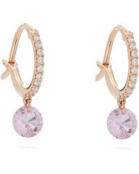 Raphaele Canot Sapphire & 18kt Rose-gold Earrings - Pink