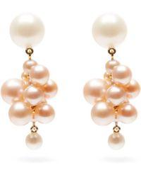 Sophie Bille Brahe - Boticelli Rose Pearl & 14kt Gold Drop Earrings - Lyst