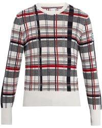 Moncler Gamme Bleu Checked Cashmere Sweater - Multicolour