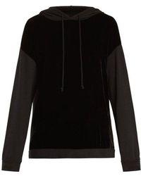 Velvet By Graham & Spencer - Alex Velvet-panel Hooded Sweatshirt - Lyst