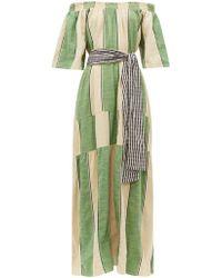 Ace & Jig Casa Striped Cotton Chambray Maxi Dress - Green