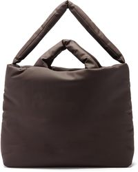 Kassl Rubber Large Padded Tote Bag - Brown