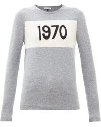 Bella Freud Womens Grey Marl 1970 Merino Wool Jumper M