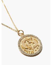 Mateo パイシス ラージ ダイヤモンド 14kゴールドゾディアックネックレス - メタリック