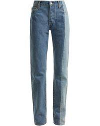 Vetements X Levi's Reworked Straight-leg Jeans - Blue