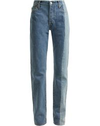 Vetements X Levi's Reworked Straight-leg Jeans - Blue