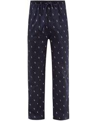 Polo Ralph Lauren Logo-print Cotton Pyjama Trousers - Blue