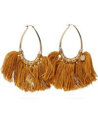 Missoni Tasseled Lurex Hoop Earrings - Metallic