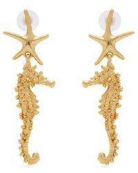 Oscar de la Renta - Starfish Earrings - Lyst