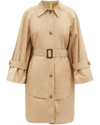 1 MONCLER JW ANDERSON Dungeness Layered-hem Cotton Trench Coat - Natural