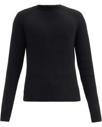 The Row Thierry Ribbed Wool-blend Sweater - Black
