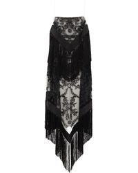 Burberry タッセルチュールオーバーレイ ツイルドレス - マルチカラー