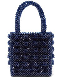 6ad9a412d5 Shrimps - Antonia Sapphire Crystal Embellished Bag - Lyst