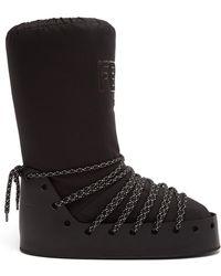 Fendi - Velvet-logo Snow Boots - Lyst