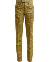 Raf Simons - Pantalon en laine à motif pied-de-poule - Lyst
