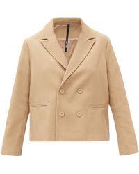 Sara Lanzi Oversized Double-breasted Wool-blend Jacket - Natural