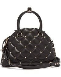Valentino - Candystud Quilted Leather Dome Bag - Lyst