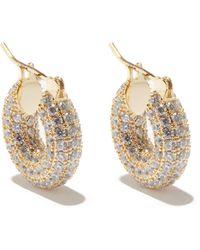 Fallon Doughnut Zircon &14kt Gold-plated Earrings - Metallic