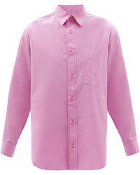 Matteau リラックスド オーガニックコットンポプリンシャツ - ピンク