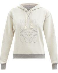 Loewe - アナグラム フーデッド コットンスウェットシャツ - Lyst