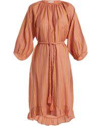 Apiece Apart - Ilia Striped Cotton-blend Dress - Lyst
