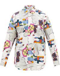 Comme des Garçons Comme Des Garçons Shirt X Kaws プリント コットンポプリンシャツ - マルチカラー