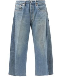 B Sides Lasso Upcycled Cropped Relaxed-leg Jeans - Blue