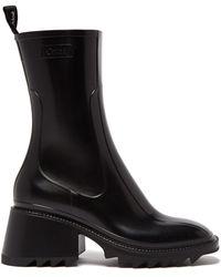 Chloé Betty - Pvc Rain Boots Sandals - Black