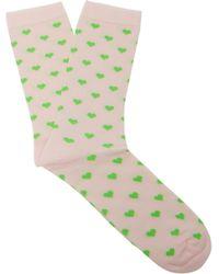 Ganni - Hearts Ankle Socks - Lyst