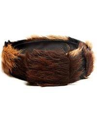 Prada - Tri Colour Calf Hair Belt - Lyst