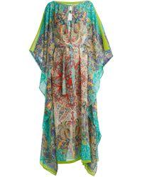 Etro - Paisley Print Silk Kaftan - Lyst