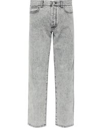 Givenchy Jean droit délavé en coton - Gris
