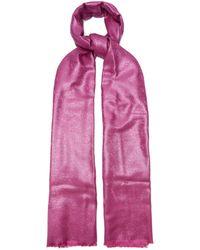 Valentino Vロゴ ショール - ピンク