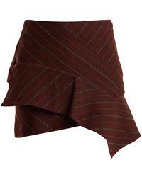 Isabel Marant - Kimura Striped Linen-blend Mini Skirt - Lyst