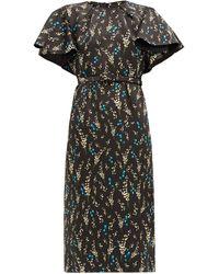 Erdem ガイア シルクドレス - ブラック