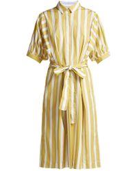 Thierry Colson - Iolanda Striped Cotton Dress - Lyst