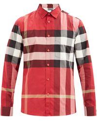Burberry - サマートン チェック ストレッチコットンシャツ - Lyst