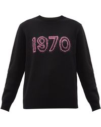 Bella Freud 1970 Merino Wool-blend Sweater - Black