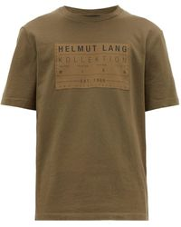 Helmut Lang Logo-patch Cotton T-shirt - Multicolour