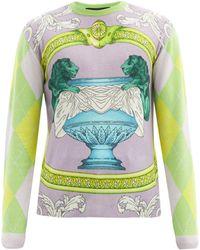 Versace - Baroque-intarsia Cashmere Sweater - Lyst