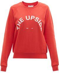 The Upside ボンディ コットンスウェットシャツ - レッド